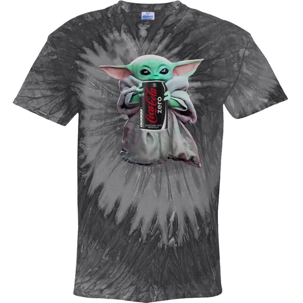Baby Yoda The Child Mandalorian Coke Zero Soda Pop Drink Tie Dye