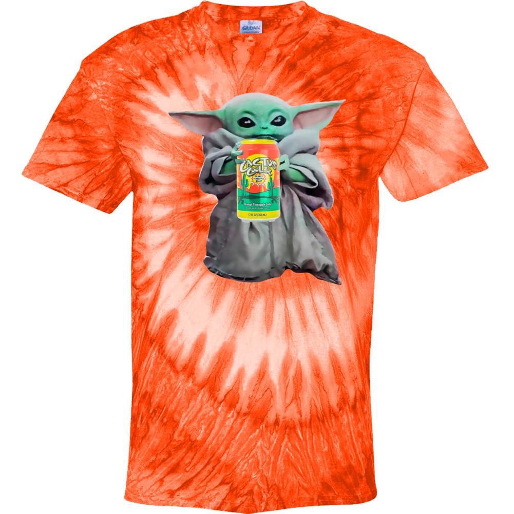 Baby Yoda The Child Mandalorian Cactus Cooler Soda Pop Drink Tie Dye