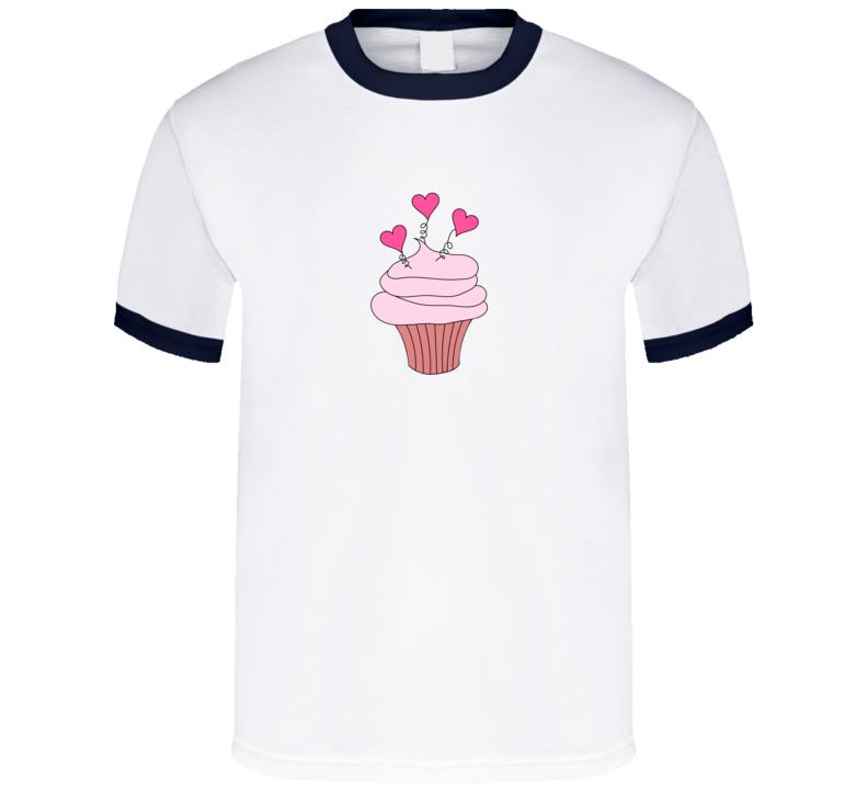 I Heart Cupcakes Dessert T Shirt