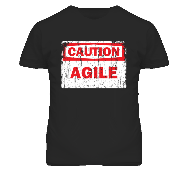 Agile Caution Adjective Distressed T Shirt