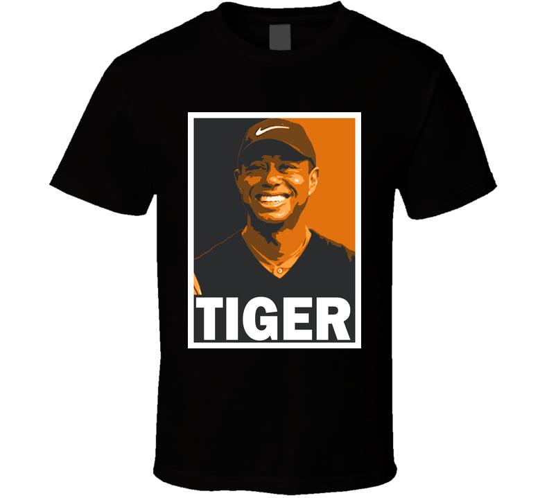 Tiger Woods Golfing Fan Hope Parody T Shirt