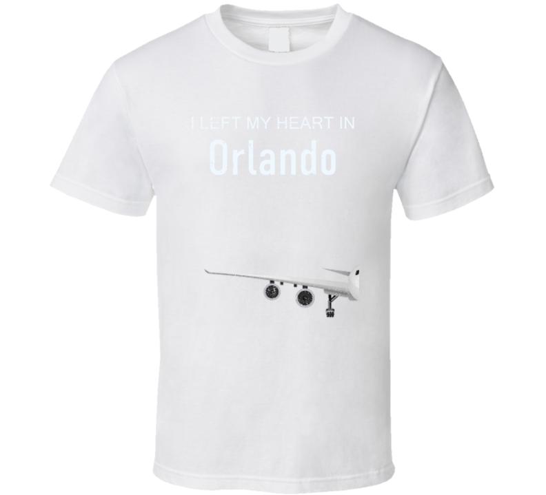 Orlando I Left My Heart In Travel Lover Wanderlust Fan Gift T Shirt