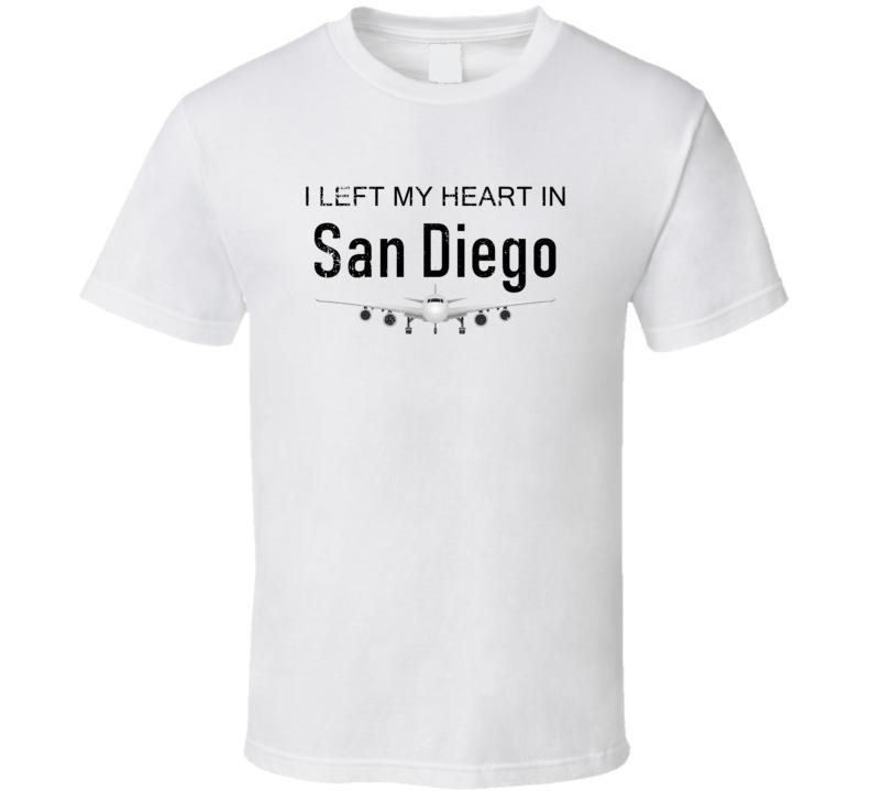 San Diego I Left My Heart In Travel Lover Wanderlust Fan Gift T Shirt