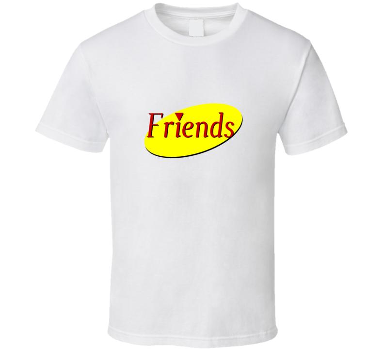 Seinfeld Friends Parody Logo Classic Tv Show Funny Fan Gift T Shirt