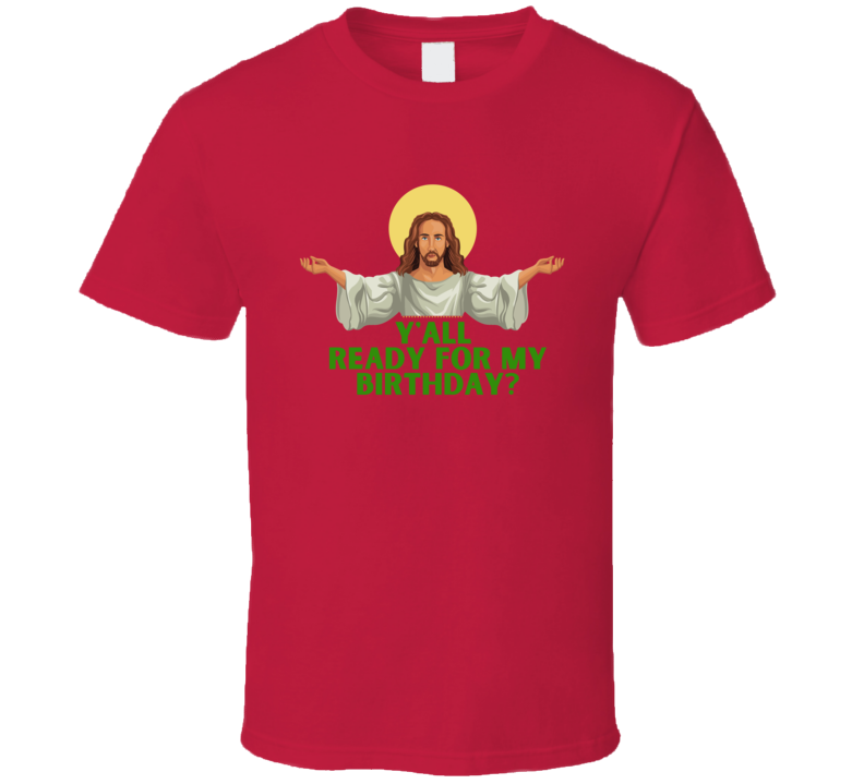 Christmas Funny Jesus Birthday Winter Present Gift Christian Ugly Xmas Sweater T Shirt