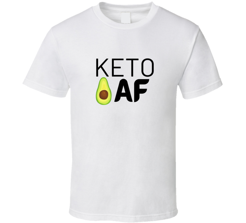 Keto Af Diet Healthy Low Carb Meals Funny Avocado Gift T Shirt