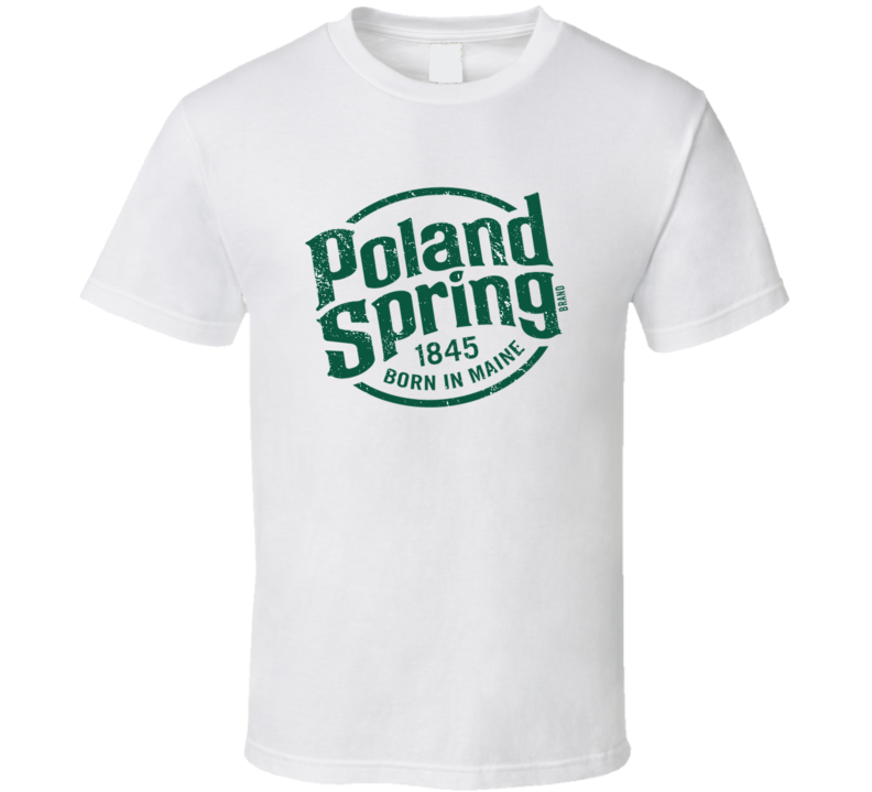 Poland Spring Water Brand Lover Logo Favorite H2o Company Cool Gift Vintage Look T Shirt