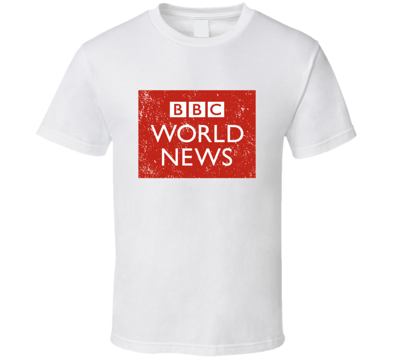 Bbc World News Logo Favorite Tv Network Channel Station Cool Fan Gift Aged Look T Shirt