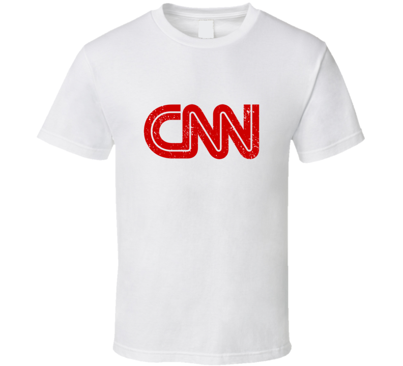Cnn Logo Favorite Tv Channel Station Cool Fan Gift Aged Look T Shirt