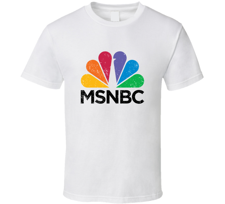 Msnbc Logo Favorite Tv Channel Station Cool Fan Gift Aged Look T Shirt