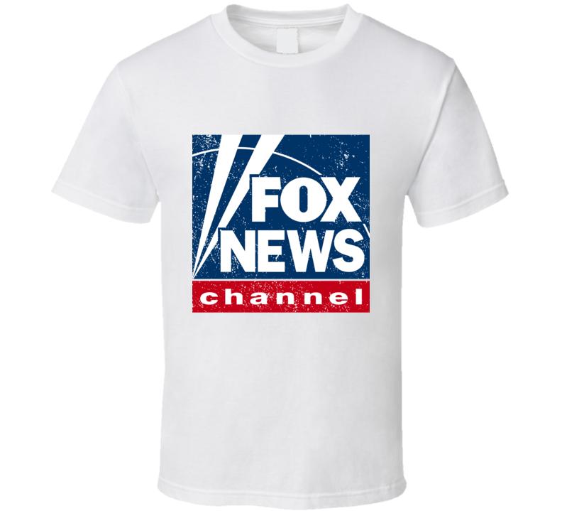 Fox News Channel Logo Favorite Tv Station Cool Fan Gift Aged Look T Shirt