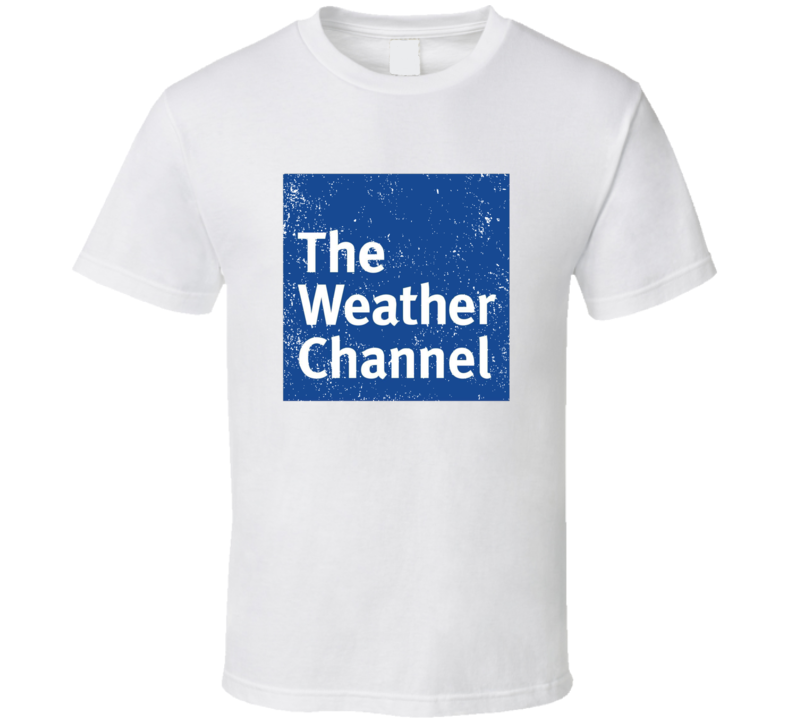 The Weatehr Network Logo Favorite Tv Channel Station Cool Fan Gift Aged Look T Shirt
