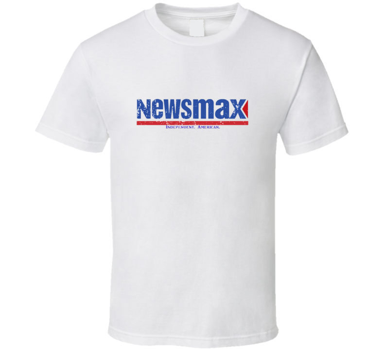News Max Independent America Logo Fan Favorite Tv Network Channel Station Cool Fan Gift Aged Look T Shirt
