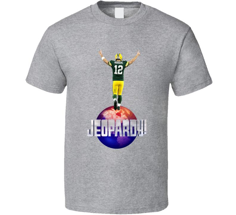 Aaron Rodgers Guest Host Jeopardy Logo Cool Football Fan Gift T Shirt