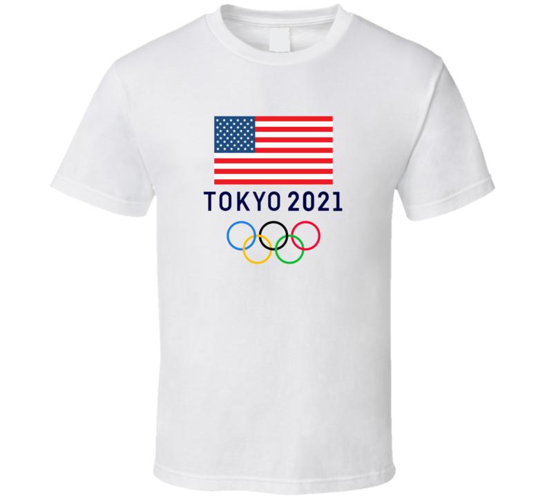 Tokyo Olympics 2021 Usa Gold Rings Logo Cool Athlete Fan Gift T Shirt