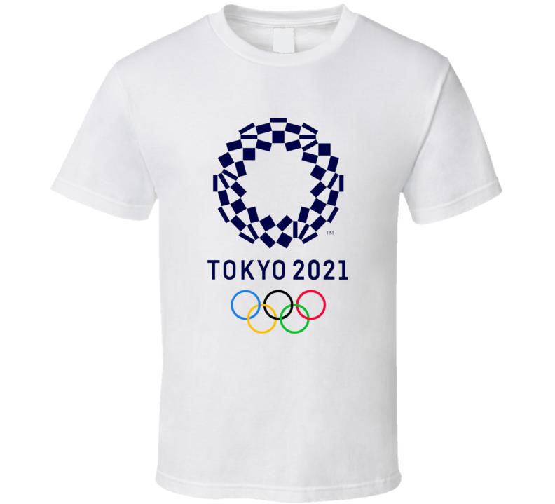 Tokyo Olympics 2021 Rings Logo Gold Metal Cool Athlete Fan Gift T Shirt