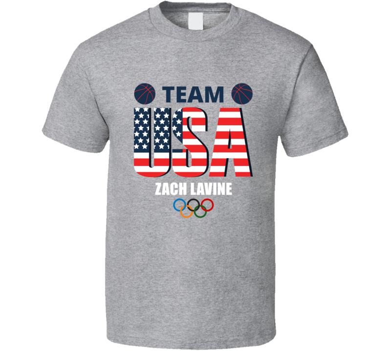 Team Usa Basketball Zach Lavine Tokyo Summer Games Athlete Fan Cool Gift T Shirt