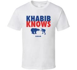 Khabib Knows Nurmagomedov Russian Mixed Martial Artist Fighting A Bear T Shirt