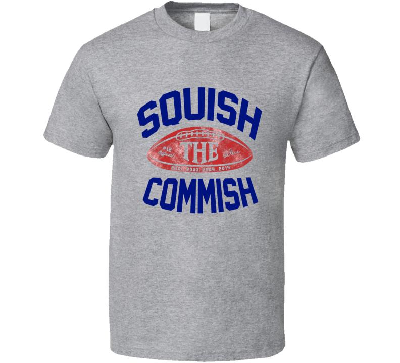 Squish The Commish Free Tom Brady Deflate 80s Rallying Anti Roger Goodell T Shirt