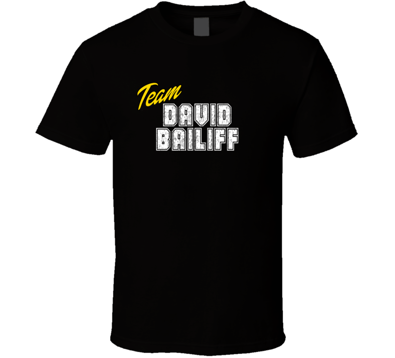 Team David Bailiff Sport Fan Football Coach T Shirt