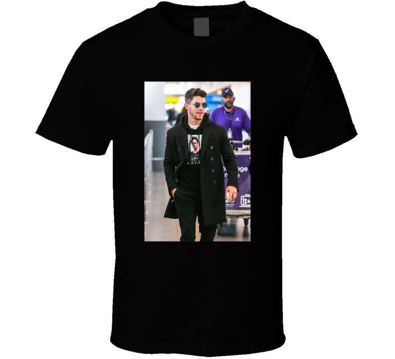Nick Jonas Wearing John Stamos Tee Funny T Shirt