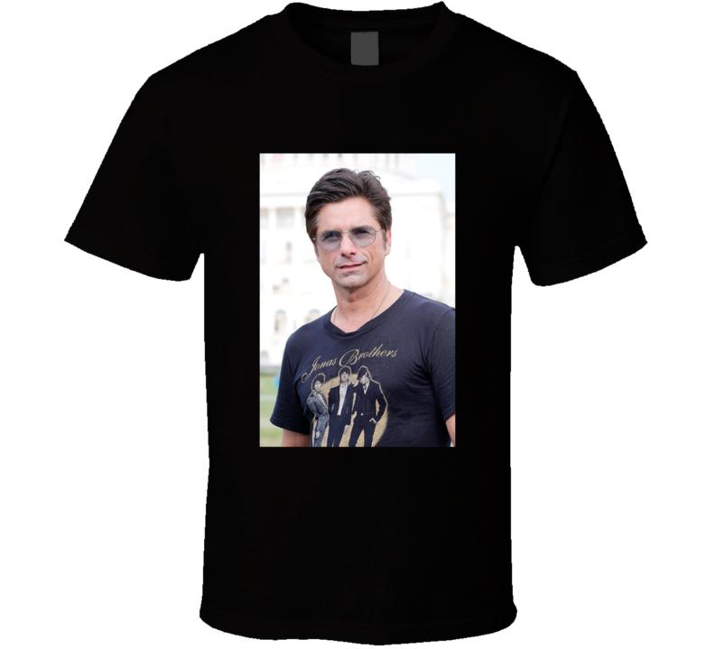 John Stamos Wearing Jonas Brothers Tee Funny T Shirt