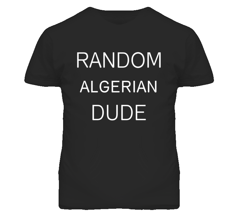 Random Algerian Dude DJ Inspired We Random Festival Rave T Shirt