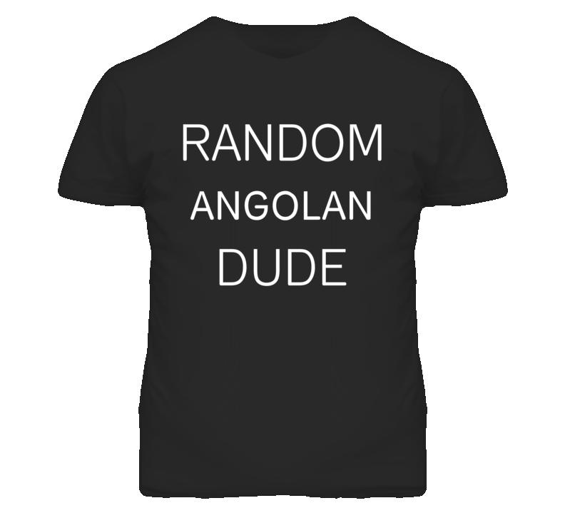 Random Angolan Dude DJ Inspired We Random Festival Rave T Shirt