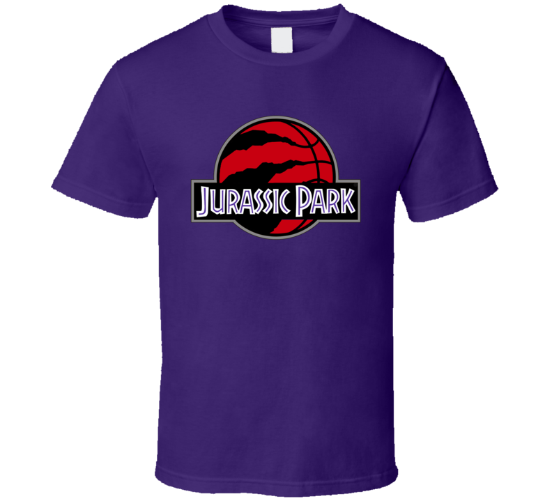 Toronto Basketball Scratched Ball The Finals Jurassic Park Logo Parody Mashup Game Viewing T Shirt