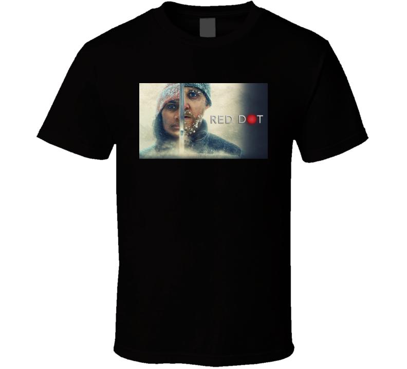 Red Dot 2021 Netflix New Movie Poster Mystery Thriller Suspense Trip Shooter Swedish Film T Shirt
