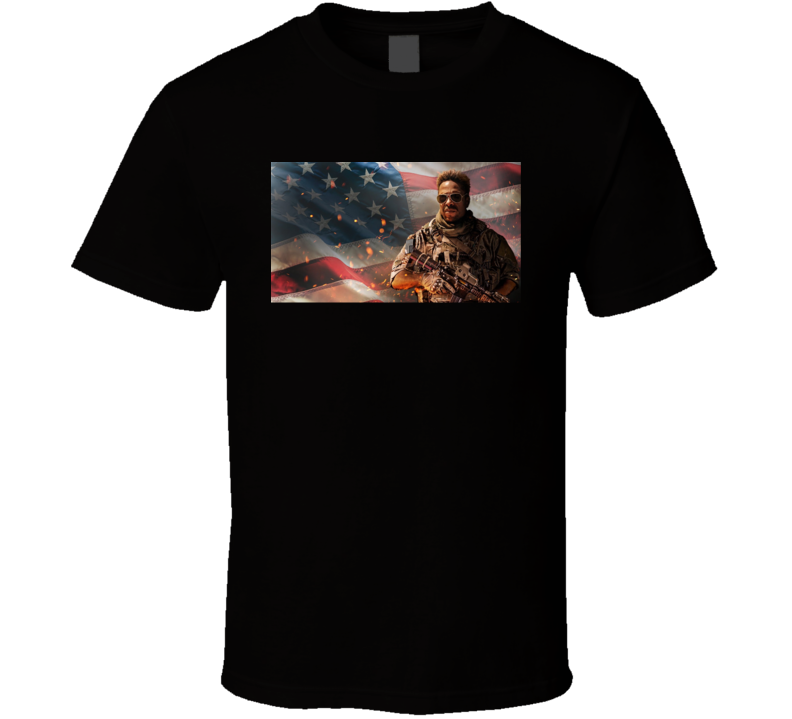 Redemption Day 2021 Netflix New Movie Poster Action Thriller Film U.s. Marine Captain American Flag Patriotic T Shirt