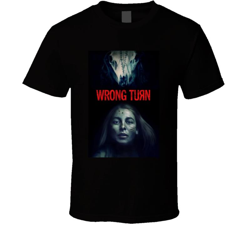 Wrong Turn 2021 New Movie Poster Horror Thriller Appalachian Trail Hikers Charlotte Vega T Shirt