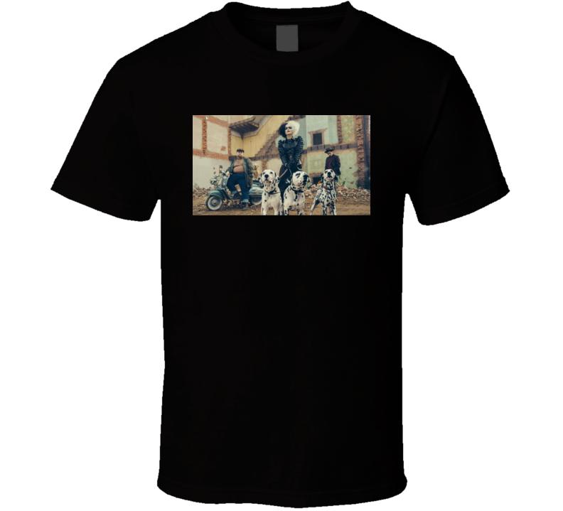 Cruella Devil Emma Stone 2021 Disney New Movie Poster De Vil 101 Dalmations Jasper Horace Henchmen T Shirt