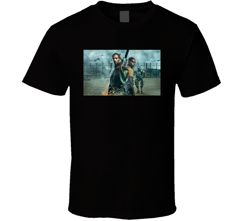 Outside The Wire 2021 Netflix New Movie Poster Action Sci-fi Film Mackie Idris Cyborg T Shirt