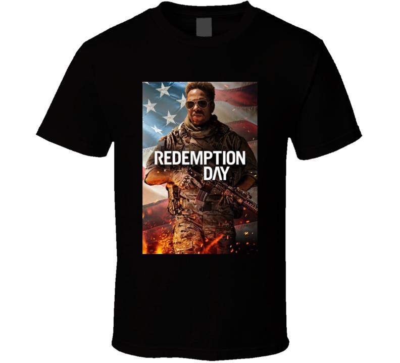 Redemption Day 2021 Netflix New Movie Poster Action Thriller Film U.s. Marine Captain American Flag T Shirt