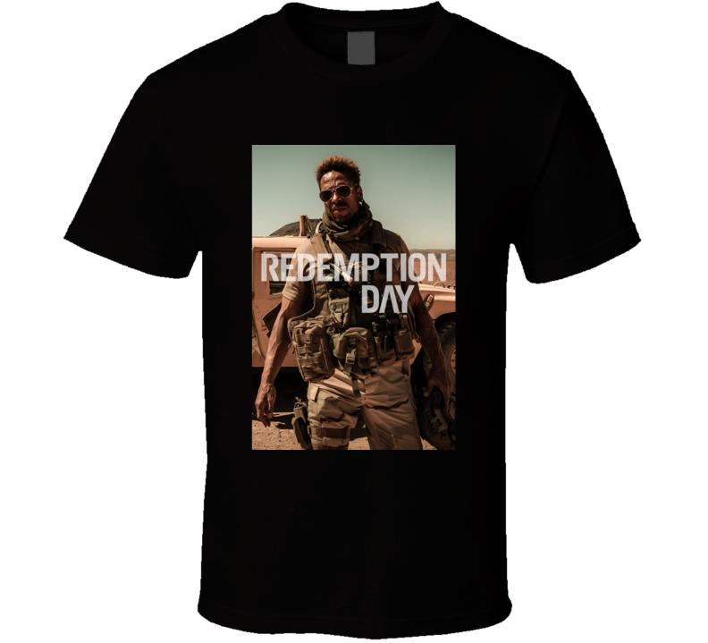 Redemption Day 2021 Netflix New Movie Poster Action Thriller Film U.s. Marine Captain T Shirt