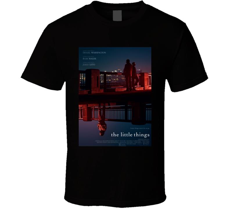 The Little Things 2021 New Movie Poster Thriller Crime Film Malik Leto Washington T Shirt