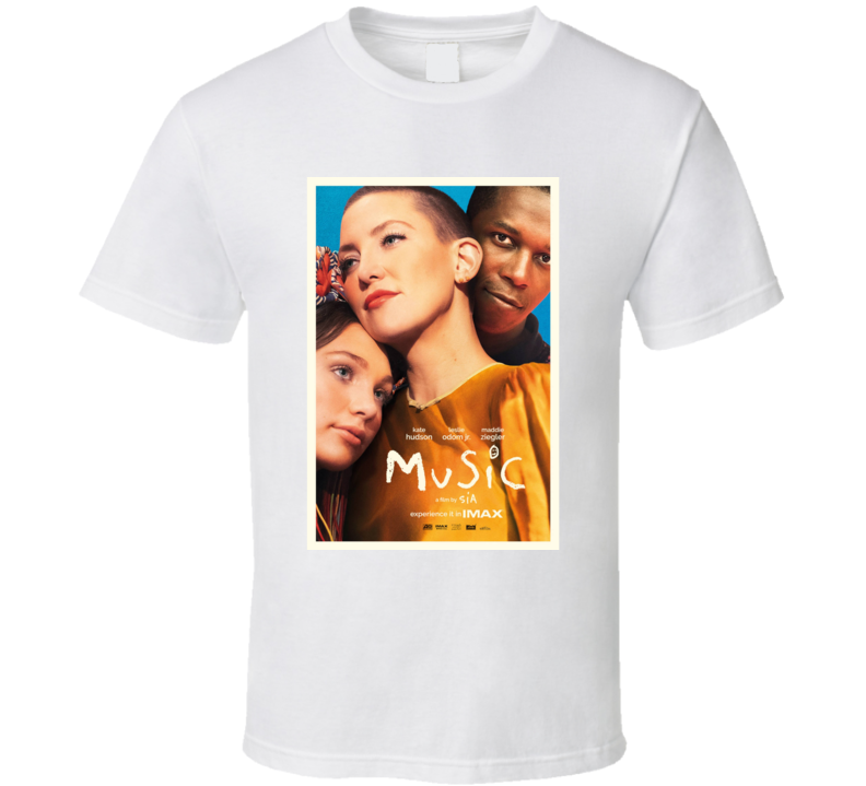 Music Sia 2021 New Movie Poster Film Autism Spectrum Community Awareness Songs T Shirt