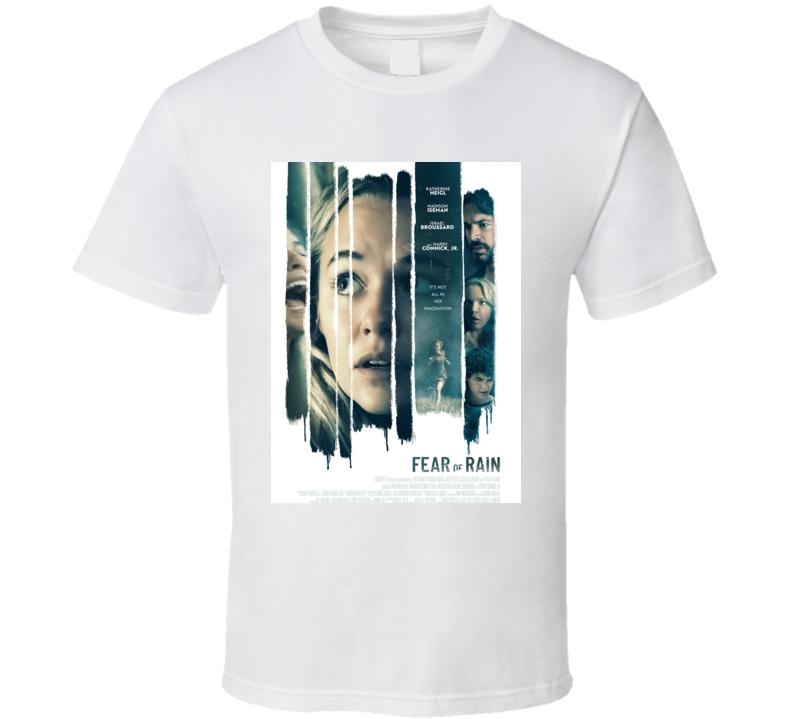 Fear Of Rain 2021 New Movie Poster Film Psychological Thriller Horror T Shirt