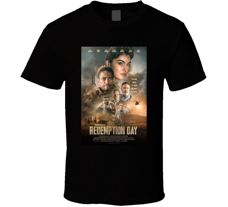 Redemption Day 2021 Netflix New Movie Poster Action Thriller Film U.s. Marine Captain Cast T Shirt