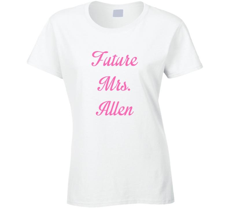 Future Mrs Grayson Allen Cute Fan Gift Celebrity Crush T Shirt