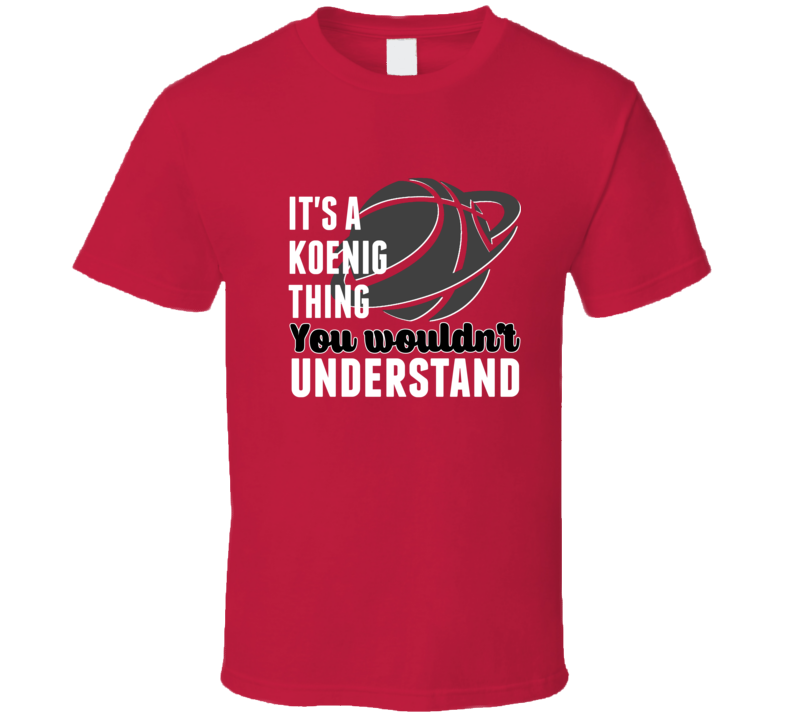 Bronson Koenig Thing Wouldnt Understand Wisconsin Basketball T Shirt