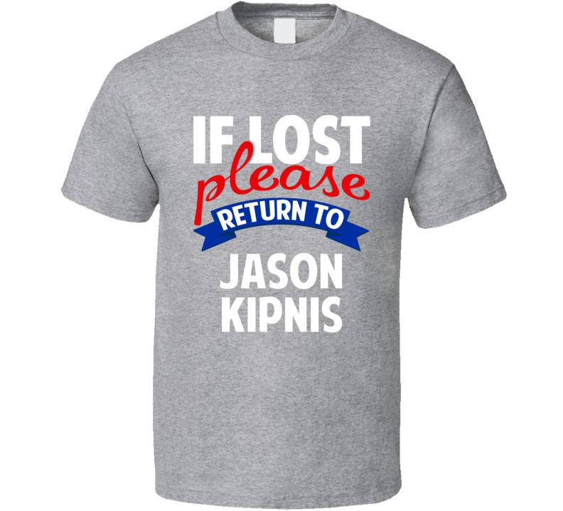 If Lost Please Return To Jason Kipnis Cleveland Baseball T Shirt