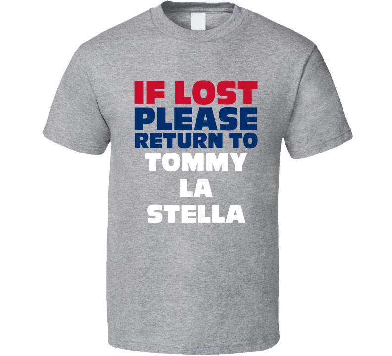 If Lost Please Return To Tommy La Stella Chicago Baseball Fan T Shirt