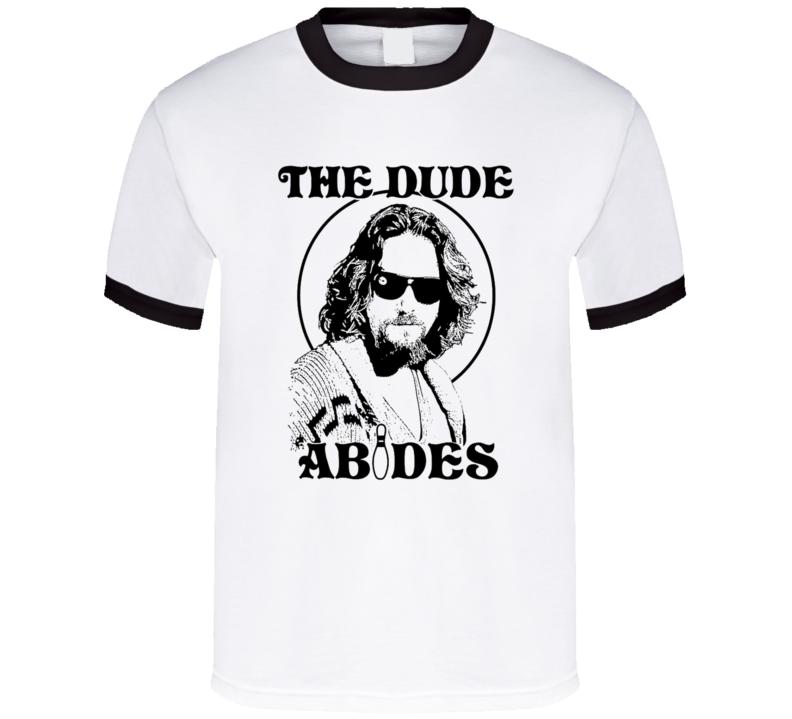 The Dude Abides - The Big Lebowski - Bowling Pin tee T Shirt