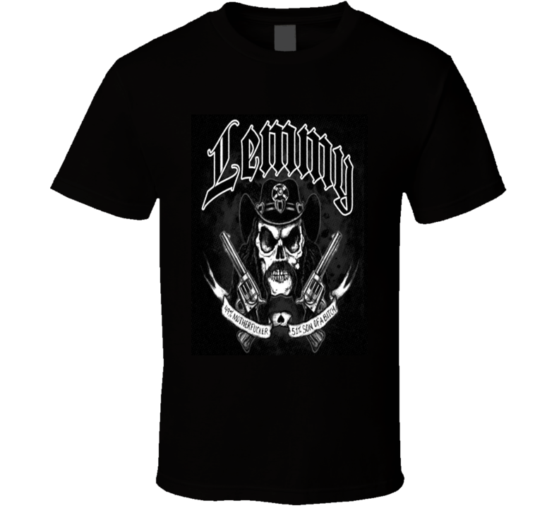 49% Motherfucker, 51% Son of a Bitch! RIP Lemmy! Motorhead Tribute Tee T Shirt