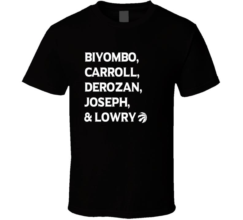 Toronto Raptors 2016 NBA Playoffs - Biyombo, Carroll, DeRozan, Joseph & lowry T Shirt