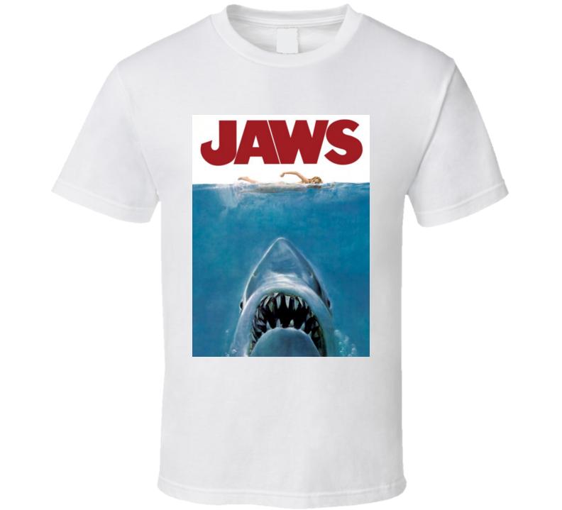 Jaws - Original Movie Poster - Steven Spielberg - Richard Dreyfuss, Roy Scheider, Robert Shaw - As worn by Gord Downie - The Tragically Hip -  T Shirt