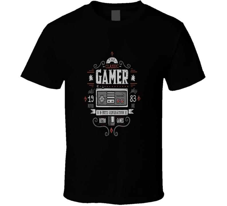 8 bit gen - Gamer tee - 1983 classic shit - super mario, Zelda, nintendo, sega T Shirt