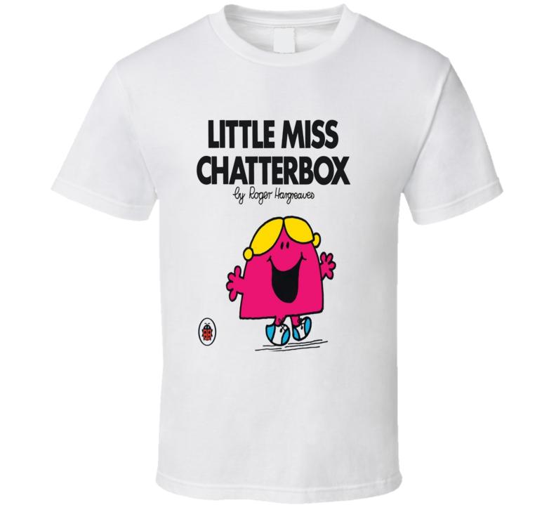 Retro Mr Men Book Series - Little Miss Chatterbox  T Shirt